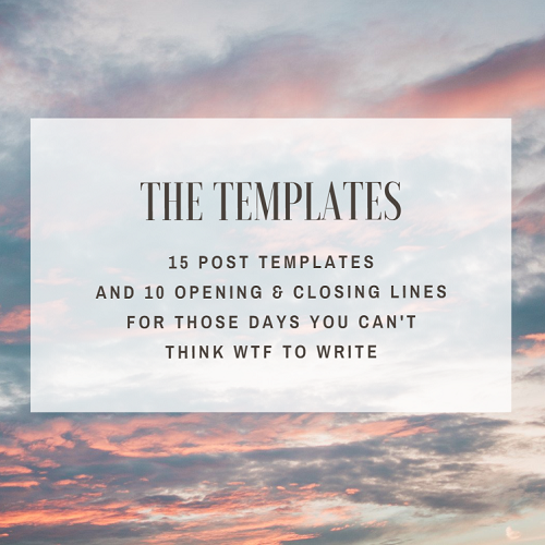 How to Write Engaging The Templates | Georgina Online | Georgina Chapman